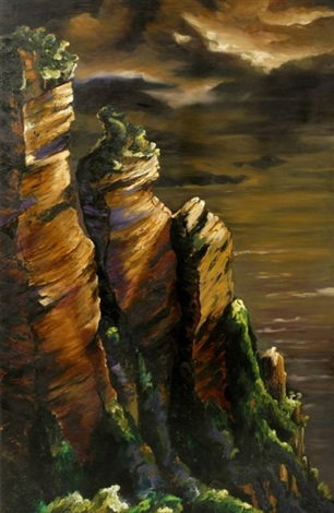 the cliffs blue mountains by jan nelson