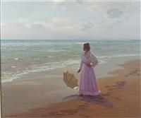 wistful in lilac, spanish beach by francisco serra