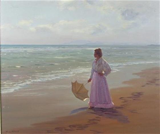 wistful in lilac spanish beach by francisco serra