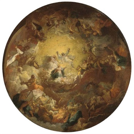 the assumption of the virgin a modello for a domed ceiling by antoine berthélemy