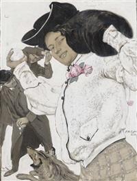 Titelseite der Nummer 26 von 1908 Reinhold Max Eichler Blumen Jugend 3649