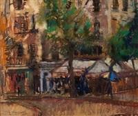 paris street scene by lena alexander
