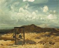 landschaft mit brunnen by jaroslav friedrich julius vesin