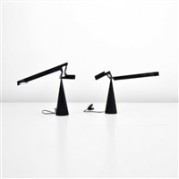 adjustable table lamps (pair) by mario barbaglia and marco colombo