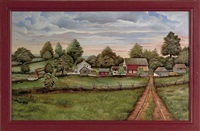 berks county, pennsylvania farm scene by franklin eshelman