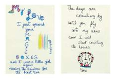 Love Letters Magic boxes, Counting the Hours diptyque by Niki de