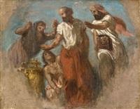 hippocrate refusant les présents des perses (sketch) by pierre andrieu