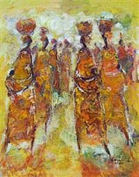 femmes kinoises sous le soleil by désiré kayamba