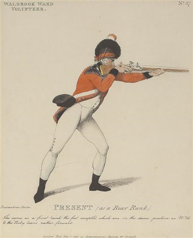 loyal volunteers of london prime and load and untitled 30 works 31 works by thomas rowlandson