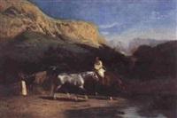 algérien et ses chevaux by alfred couverchel