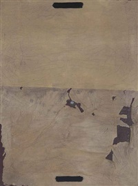 papers esquinçats sobre tela (torn paper on canvas) by antoni tàpies