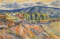 zhiguli mountains by aristarkh vasilevich lentulov
