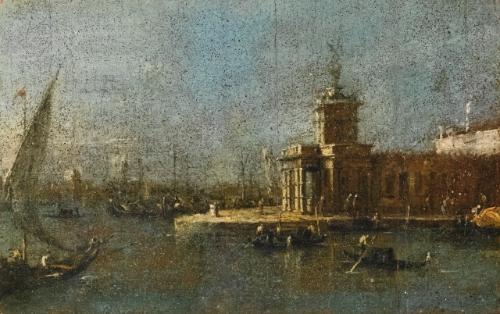 venice, a view of the punta della dogana by francesco guardi