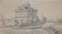 vue du château saint-ange by gabriel allegrain