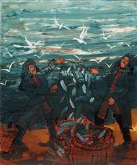 heimkehr vom fischfang, stralsund by heinrich ehmsen