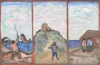 mount st. michael (triptych) by bernard gussow