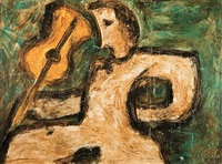 figure avec violon by nonda