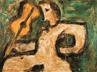 figure avec violon by nonda