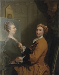 portrait of the artist by joseph vivien