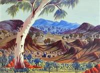 central australian landscape by henoch raberaba