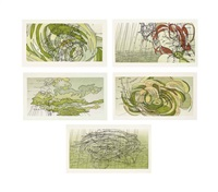sea state five (set of 5) by matthew ritchie
