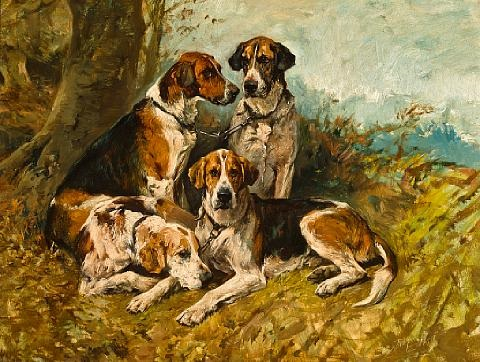 hounds at rest by john emms