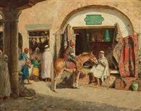 in the market, the rug seller by mathias joseph alten
