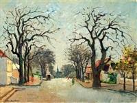 street scene paarl, cape by piet (pieter gerhardus) van heerden