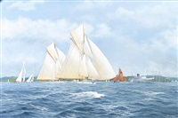 bona and other yachrs racing by john j. holmes