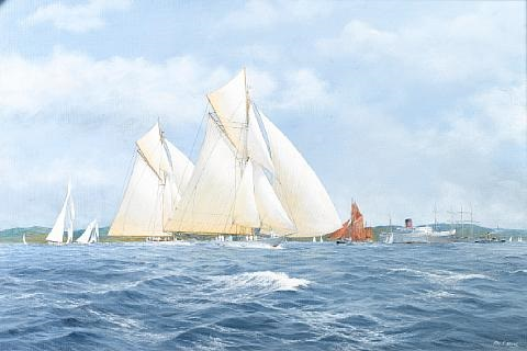 bona and other yachrs racing by john j holmes