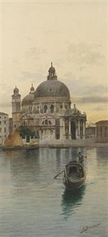 santa maria della salute (+ a venetian backwater; pair) by eugenio benvenuti