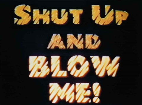 shut up by john waters