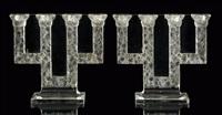 paire de candélabres quatre branches sorbier (pair) by rené lalique