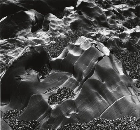 eroded rocks and pebbles by brett weston