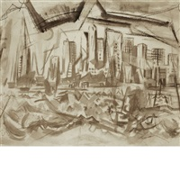 after watercolors by john marin (2 works) by alfred stieglitz