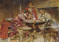a game of cards by edgar bundy