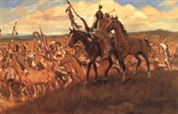 lakota crow hunt by charles w. miller