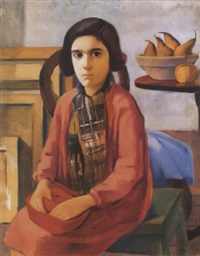 pirosruhás leány (girl in red dress) by edith basch