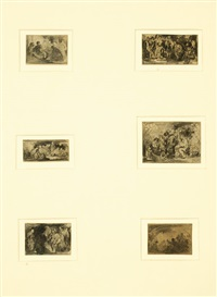 untitled (18 studies in 3 frames) by matthijs maris