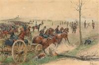 erzherzog albrecht in der schlacht bei novarra 1866 by felicien de myrbach-rheinfeld