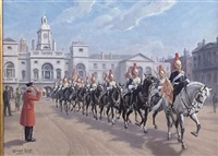 procession of the royal horse guards by conrad leigh