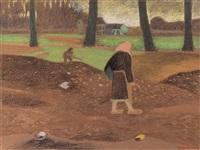 travail des champs by léon spilliaert