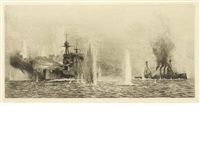 dreadnough under fire by william lionel wyllie