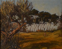 paysage ensoleillé by émile bernard