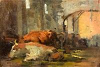 resting cows, alcoy by josé marie de la bastida y fernandez