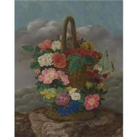 flowers and berries in a basket by danish school (19)