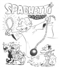 spaghetti contrebandier (cover for album) by dino attanasio