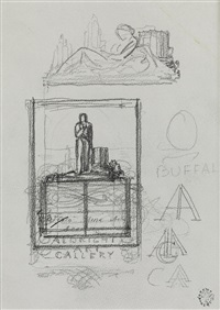 study for the albright art gallery book plate by rockwell kent