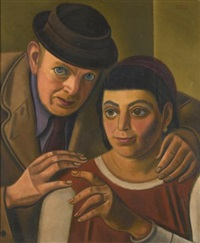 the artist and his wife by william roberts