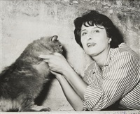 anna magnani con gatto (anna magnani with cat) by guglielmo coluzzi
